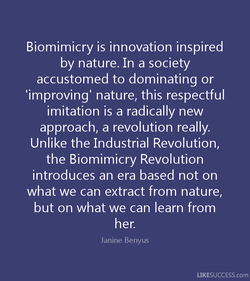 Biomimicry is innovation inspired 
