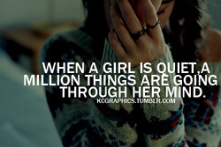 WHEN A GIRL IS o A 