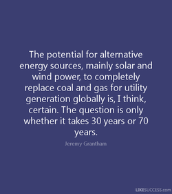 The potential for alternative 