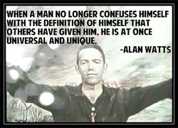 WHEN A MAN NO LONGER CONFUSES HIMSELF 