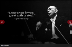 Lesser artists borrow, 