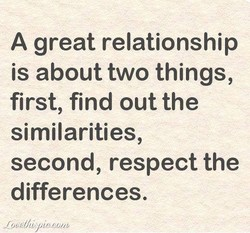 A great relationship 