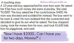 A touching story: 