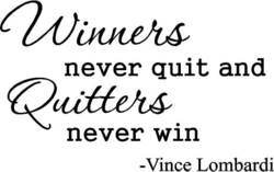 never quit and 