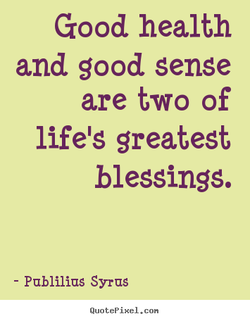 Good health 