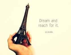 Dream and reach for it. (c) ALNBL