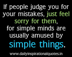 If people judge you for 