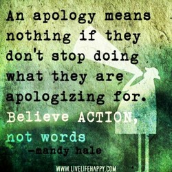An apology means 