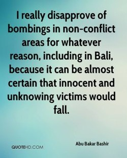 I really disapprove of 