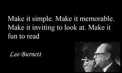 Make it simple. Make it memorable. 