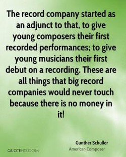 The record company started as 