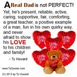 Real Dad is not PERFECT! 
