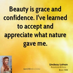 Beauty is grace and 
