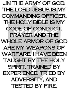 ...IN THE ARMY OF GOD. 