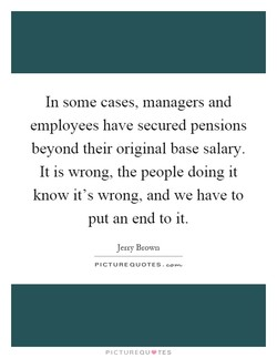 In some cases, managers and 
