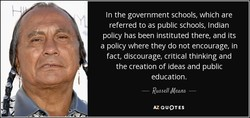 In the government schools, which are 