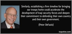 Similarly, establishing a firm timeline for bringing 