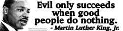 Evil only succeeds 