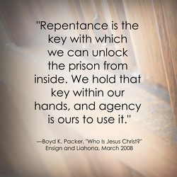 I 'Repentance is the 