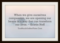 When we give ourselves 