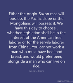 Either the Anglo-Saxon race will 