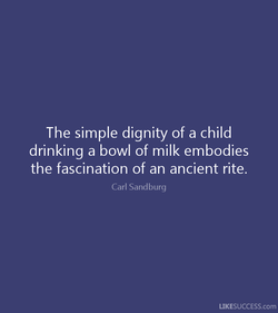 The simple dignity of a child 