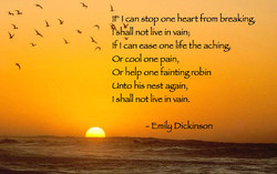 Ir I can stop one heart from breaking 