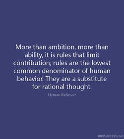 More than ambition, more than 