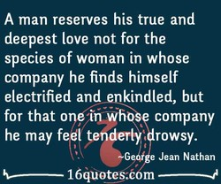 A man reserves his true and 