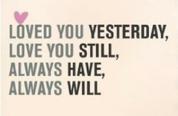 YOU YESTERDAY, 