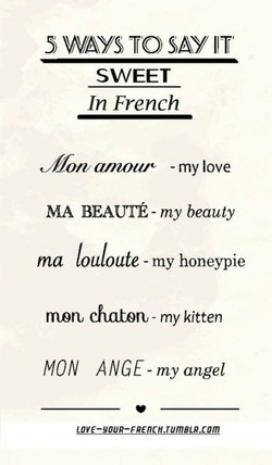 5 WAYS TO SAY/ IT 