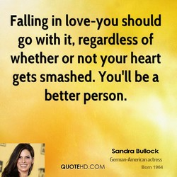 Falling in love-you should 