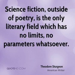 Science fiction, outside 