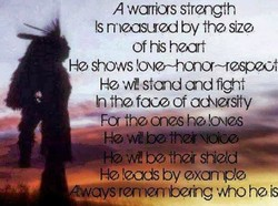 A warrios strength 