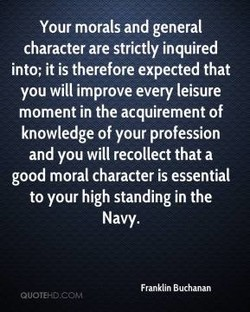 Your morals and general 
