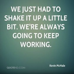 WE JUST HAD TO 