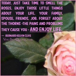 TODAY, JUST TAKE TIME TO SMELL THE 