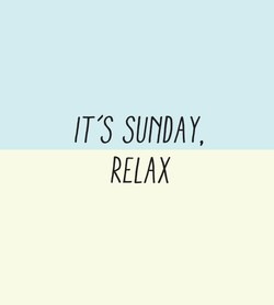IT'S SUNDAY, 