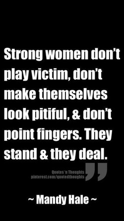 Strong women don't 