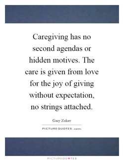 Caregiving has no 