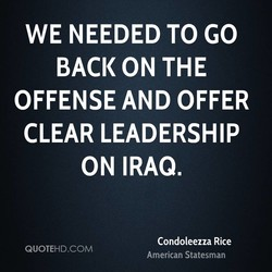 WE NEEDED TO GO 