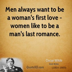 men always want to be 