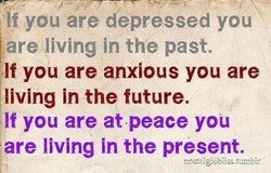 If you are depressed you 