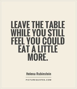 LEAVE THE TABLE 