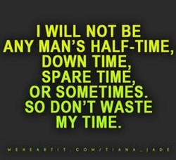 I WILL NOT BE 