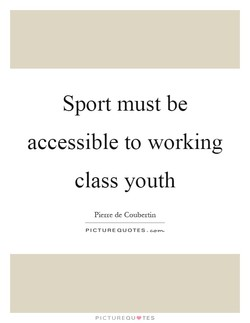 Sport must be 