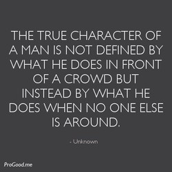 THE TRUE CHARACTER OF