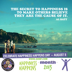 THE SECRET TO HAPPINESS IS 