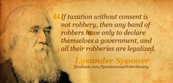 If taxation without consent is 