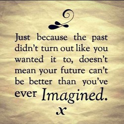 Just because the past 
